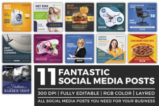 Print on Demand: Social Media Posts Template Graphic Web Elements By OWPictures