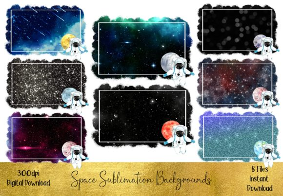 Space  Travel Sublimation Backgrounds Graphic Backgrounds By STBB
