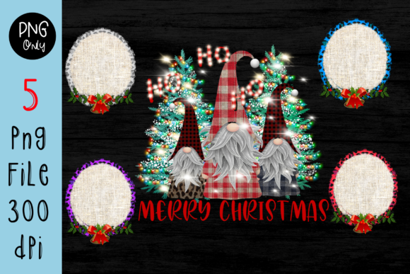 Sublimation Gnomes Family Christmas Graphic