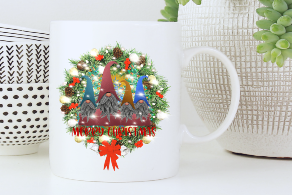 Sublimation Gnomes Family Christmas Graphic Design Item
