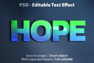 Print on Demand: Text Effect Hope Premium Graphic Graphic Templates By yosiduck