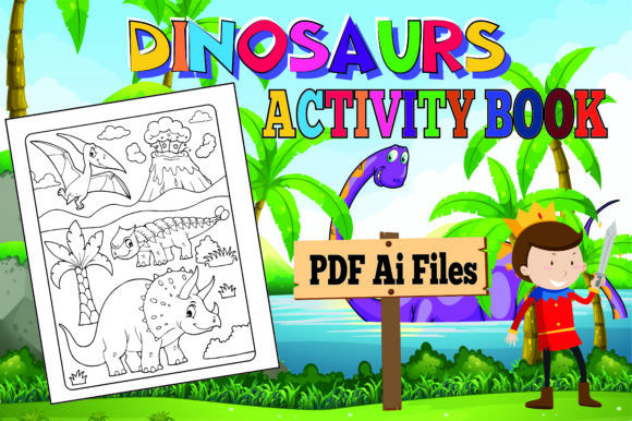 Print on Demand: The Most Complete Dinosaur Activity Book Graphic KDP Interiors By KDP_Interior_101