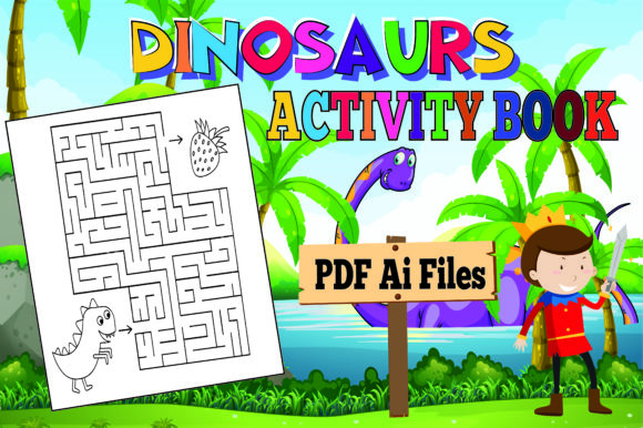 The Most Complete Dinosaur Activity Book Graphic Download