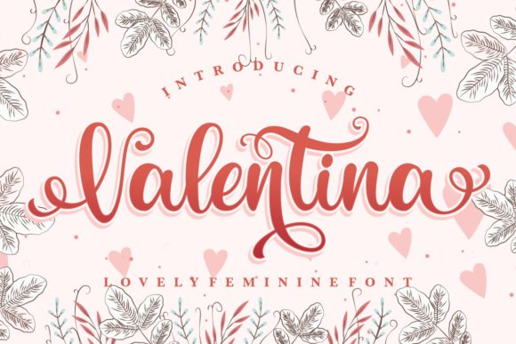Print on Demand: Valentina Script & Handwritten Font By HansCo