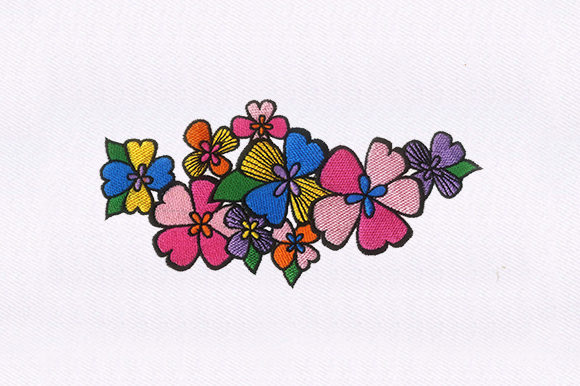Vibrant Flowers Design Single Flowers & Plants Embroidery Design By DigitEMB