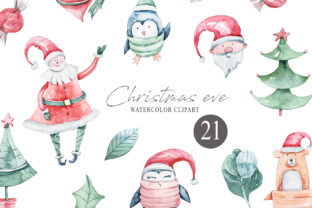 Print on Demand: Watercolor Christmas Clipart. Winter Set Graphic Illustrations By Tiana Geo
