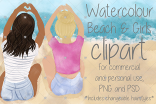 Print on Demand: Watercolour, Best Friend, Sister, People Graphic Illustrations By CommercialCliparts
