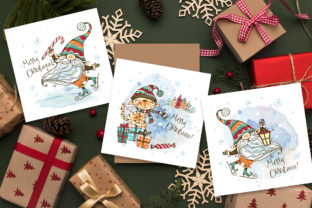 Winter Clipart Nordic Gnome Png and Cat Graphic Illustrations By grigaola 2