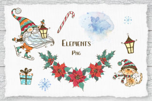 Winter Clipart Nordic Gnome Png and Cat Graphic Illustrations By grigaola 3