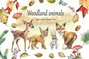 Woodland Animals Clipart. Forest Animals Graphic Illustrations By EvArtPrint