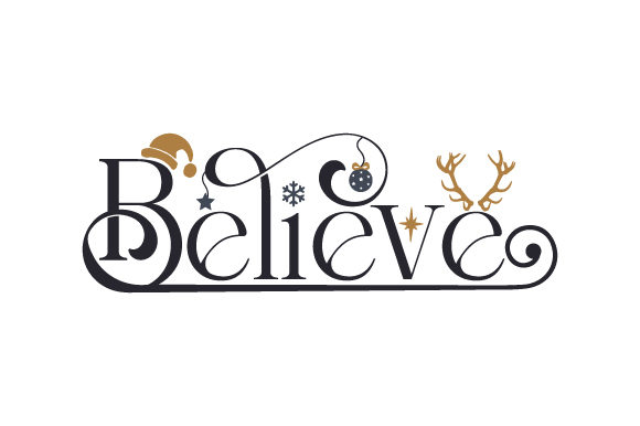 Believe Christmas Craft Cut File By Creative Fabrica Crafts