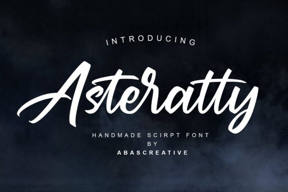 Print on Demand: Asteratty Script & Handwritten Font By AbasCreative