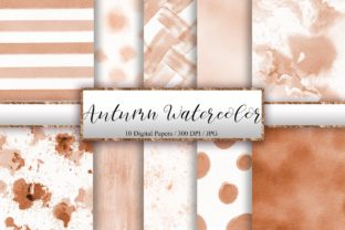 Print on Demand: Autumn Watercolor Texture Background Graphic Backgrounds By PinkPearly