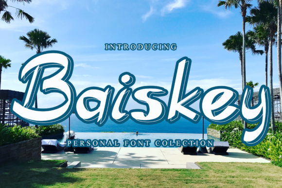 Print on Demand: Baiskey Script & Handwritten Font By giatstudios