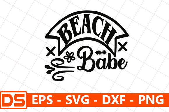 Print on Demand: Beach Babe Graphic Print Templates By Star_Graphics