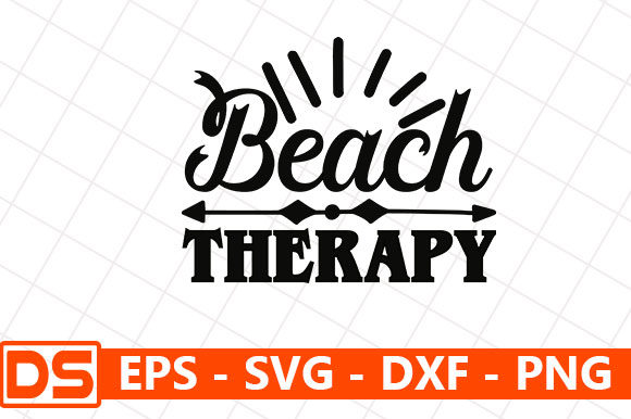 Print on Demand: Beach Therapy Graphic Print Templates By Star_Graphics
