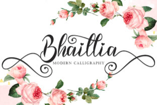 Print on Demand: Bhaillia Script & Handwritten Font By yogaletter6
