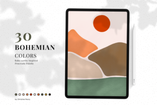Print on Demand: Bohemian Color Palette Graphic Add-ons By Christine Fleury