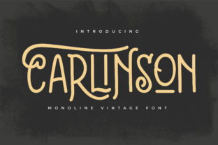 Print on Demand: Carlinson Display Font By Vunira