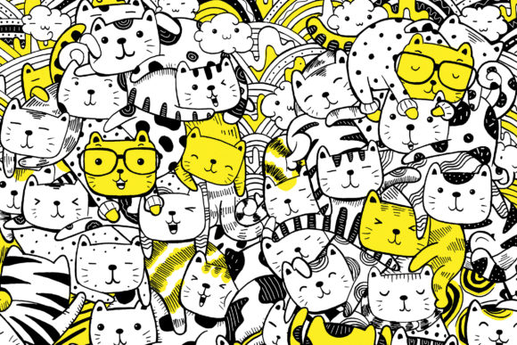Cat and Friends (Meowtain) Graphic Illustrations By medzcreative