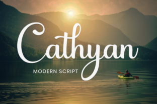 Print on Demand: Cathyan Script & Handwritten Font By utopiabrand19