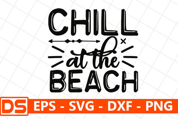 Print on Demand: Chill at the Beach Graphic Print Templates By Star_Graphics