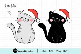 Christmas Cat Graphic Illustrations By CatAndMe
