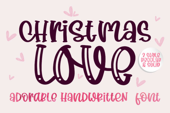 Print on Demand: Christmas Love Display Font By BitongType