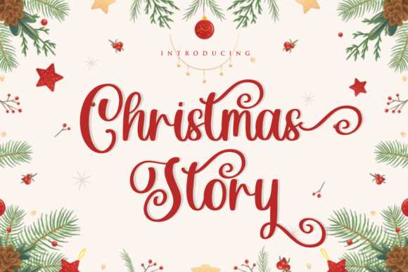 Print on Demand: Christmas Story Script & Handwritten Font By mfikryalif
