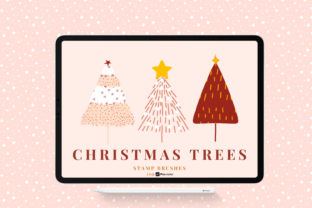 Print on Demand: Christmas Tree Stamp Brushes Graphic Brushes By Christine Fleury