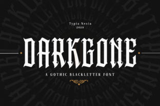 Print on Demand: Darkgone Blackletter Font By Typia Nesia