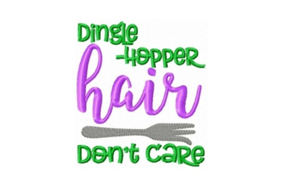 Dingle Hopper Hair Don't Care Beach & Nautical Embroidery Design By Sew Terific Designs