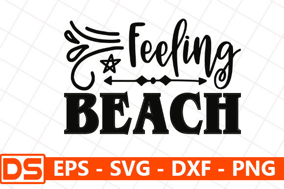 Print on Demand: Feeling Beach Graphic Print Templates By Star_Graphics