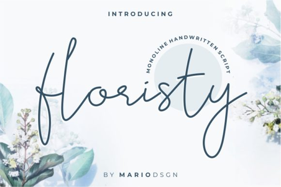 Print on Demand: Floristy Script & Handwritten Font By MarioDsgn
