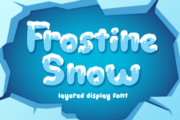 Print on Demand: Frostine Snow Display Font By attypestudio