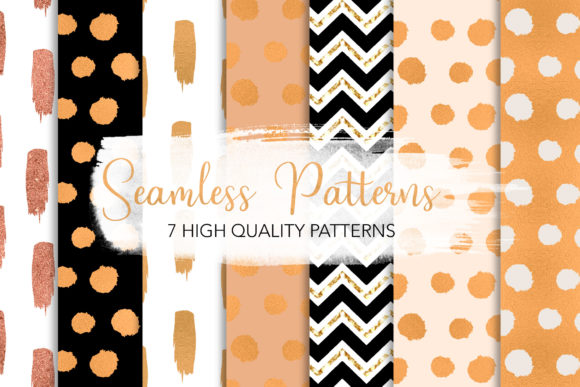 Print on Demand: Golden Chic Seamless Patterns Graphic Patterns By loyaarts