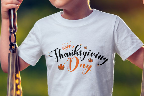 Print on Demand: Happy Thanksgiving Day Svg | Fall Svg Graphic Crafts By MyBest Design