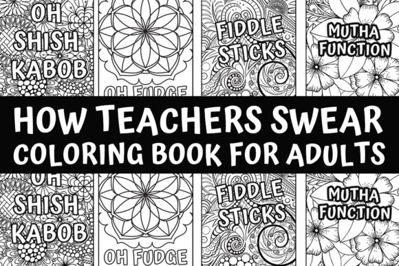 - 1728+ Graphic Coloring Pages & Books Adults (2020) - Creative Fabrica