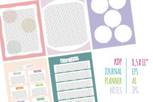 Print on Demand: KDP Interior Daily Weekly Notes Graphic KDP Interiors By edywiyonopp