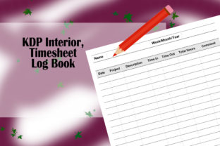 Print on Demand: KDP Interior, Timesheet Log Book Graphic KDP Interiors By Designs_by_Shorty