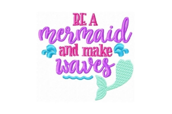 Mermaid Makes Waves Beach & Nautical Embroidery Design By Sew Terific Designs