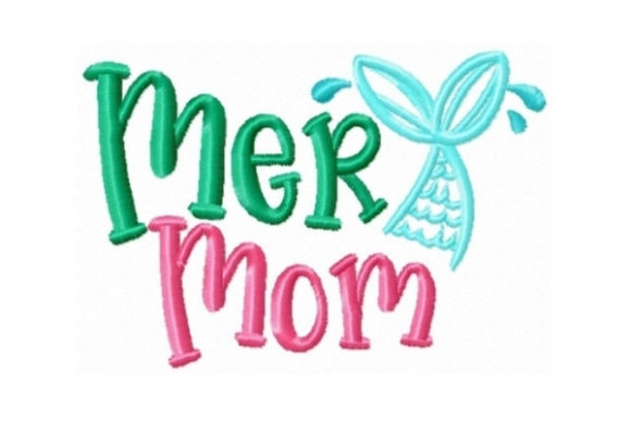 Mermom Beach & Nautical Embroidery Design By Sew Terific Designs
