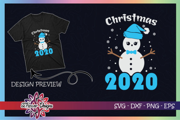 Merry Christmas 2020 Snowman Pajama Graphic Print Templates By ssflower