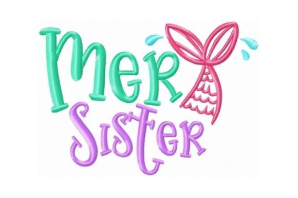 Mersister Beach & Nautical Embroidery Design By Sew Terific Designs