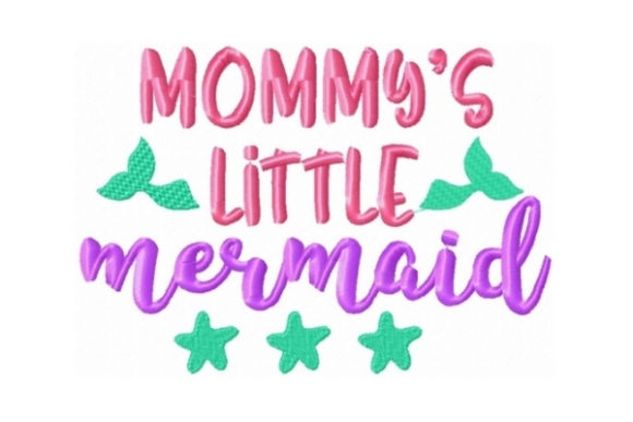 Mommys Little Mermaid Beach & Nautical Embroidery Design By Sew Terific Designs