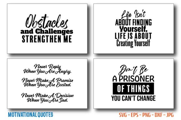 Motivational & Inspirational Quotes Bundle Graphic Crafts By Saudagar