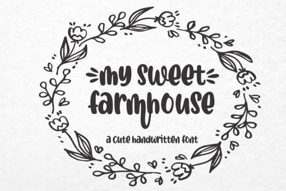 Print on Demand: My Sweet Farmhouse Script & Handwritten Font By Mozarella