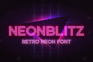 Print on Demand: Neonblitz Display Font By almarkhatype