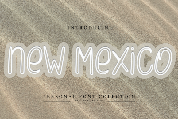 Print on Demand: New Mexico Display Font By dazzlinggleam