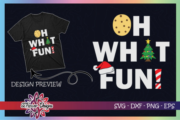 Oh What Fun Christmas Cookies Xmas Tree Graphic Print Templates By ssflower